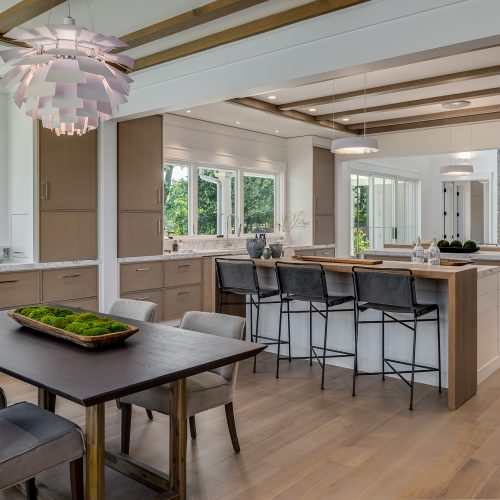 The award winning kitchen breakfast nook and family room where everyone can gather at family time.
